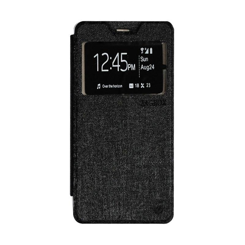 ZAGBOX Flip Cover Casing for Lenovo A6600 - Black