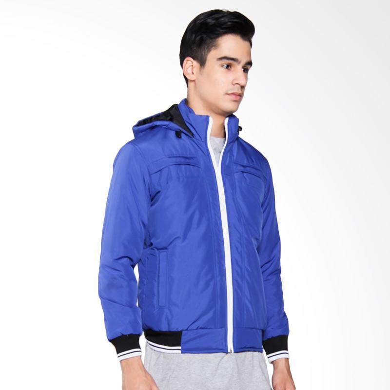Bafash Zipper Pocket Detechable Jaket Pria - Blue