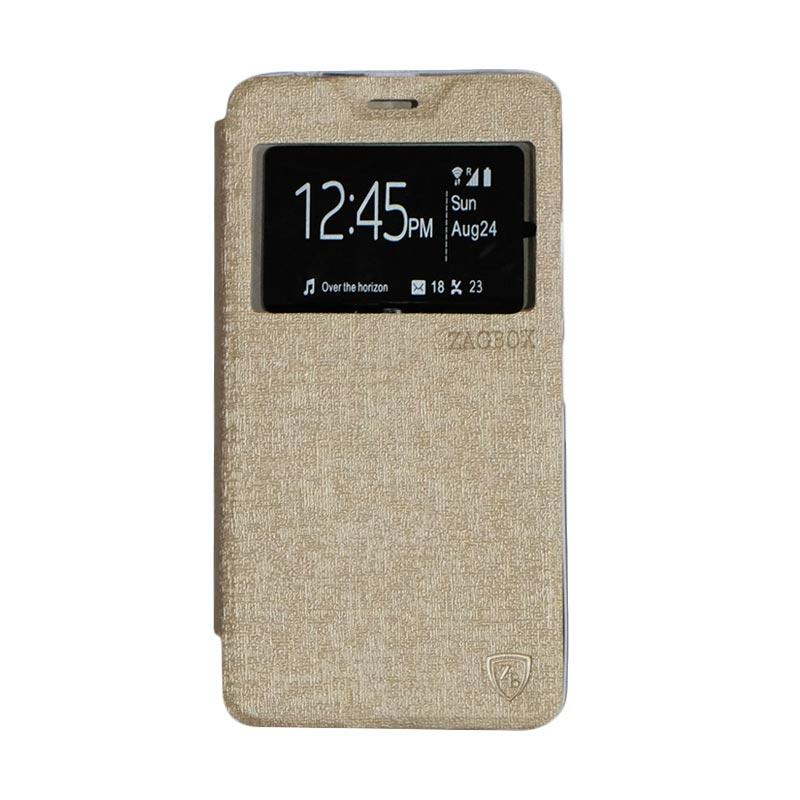 ZAGBOX Flipcover Casing for Lenovo A7700 - Gold