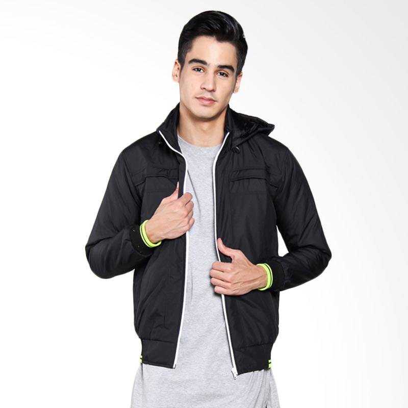 Bafash Zipper Pocket Detechable Jaket Pria - Black