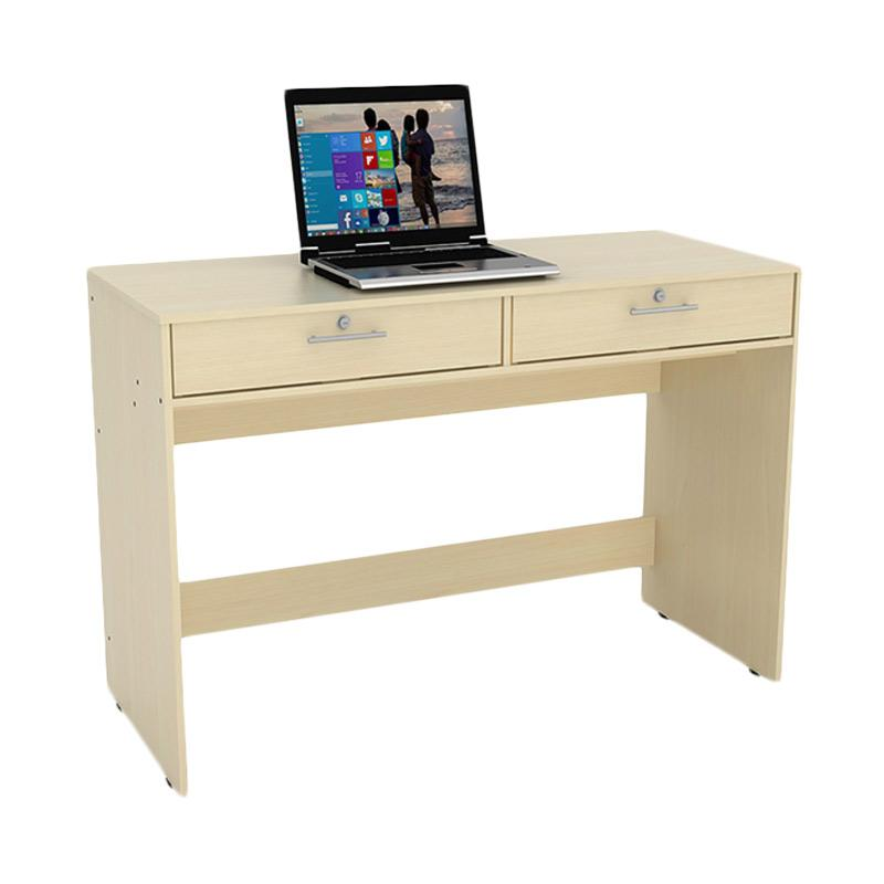 Prissilia Calibrate Desk 2 Drawers - Maple
