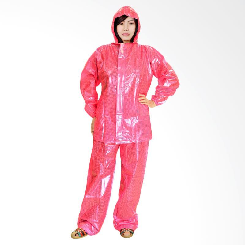 Rainwear Polkadot Beauty Jas Hujan - Pink