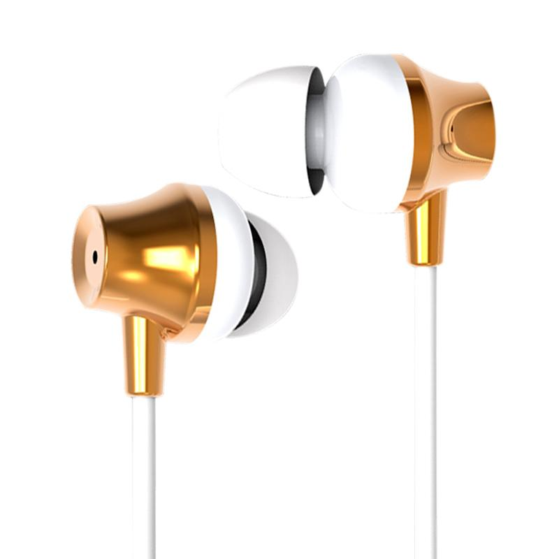 Robot RE-P03 Nail Shape Mini Wired Headset - Gold
