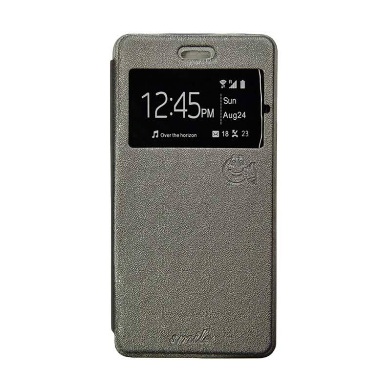 SMILE Flip Cover Casing for Xiaomi Mi4i - Abu-Abu