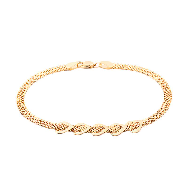 Five Gold Bracelet - Gelang Emas Kadar 75-WHIZLIZ
