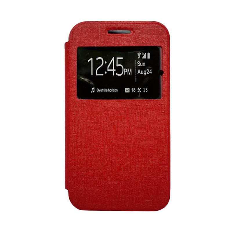 Zagbox Flip Cover Casing for Samsung Galaxy J710 2016 - Merah
