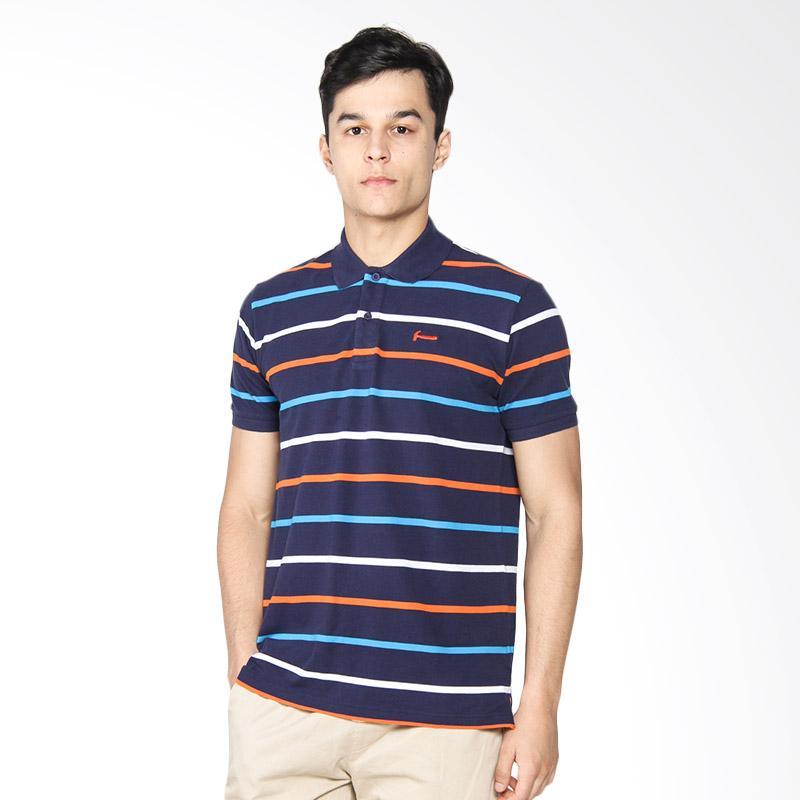 Hammer Stripe D. Polo Shirt Pria - Blue White Orange B1PS392B2