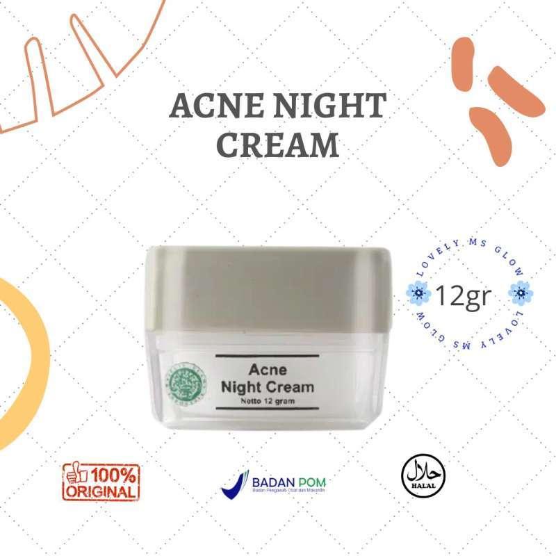 Ms Glow Acne Night Cream Acne Night Cream Cream malam Ms Glow