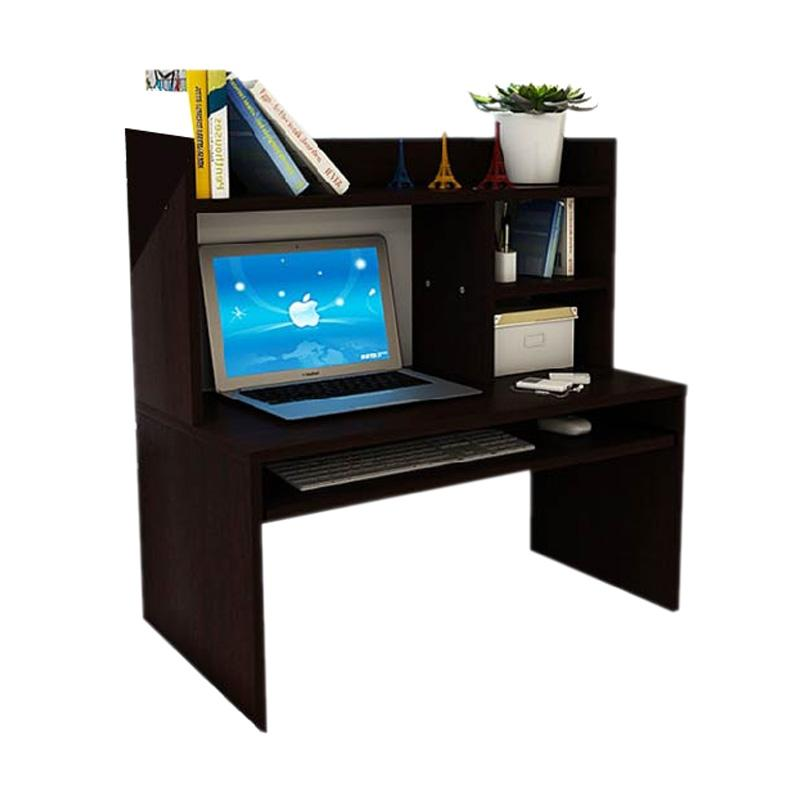 harga Best Furniture Mini Desk Lesehan Meja Laptop / Belajar dan Rak Sebaguna - Hitam Blibli.com
