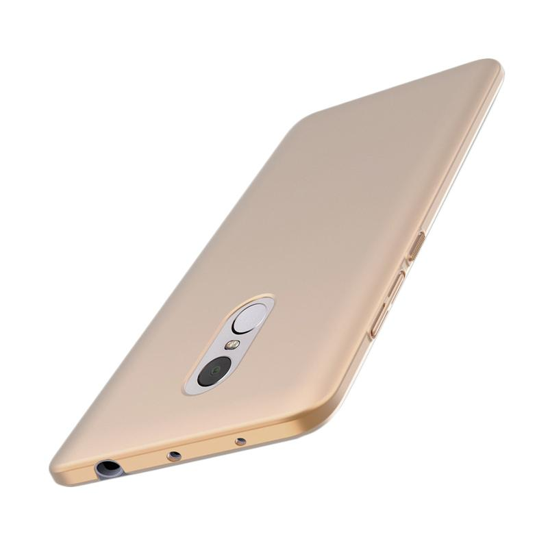 WEIKA Baby Skin Ultra Thin Full Cover Hardcase Casing for Xiaomi Redmi Note 4 - Gold + Free tempered glass 3 power