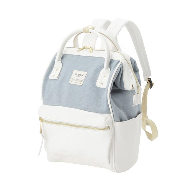 Jual Anello X The Emporium Limited Edition Denim X PU Leather White Tas  Ransel Backpack Online - Harga   Kualitas Terjamin  4e62e33aed