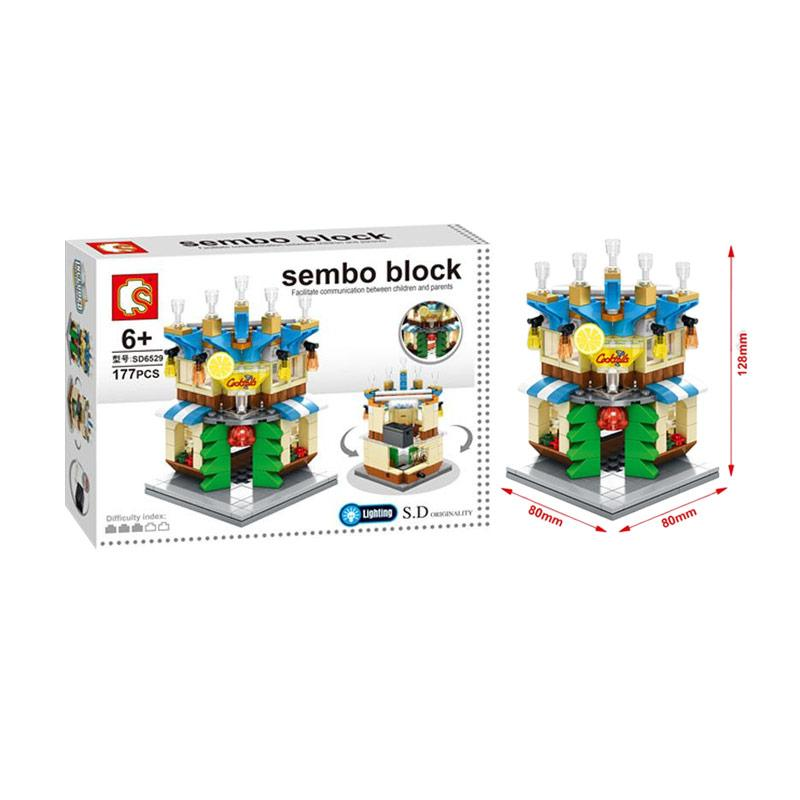 Sembo Sd6529 Cocktail Mainan Mini Blocks Mainan Anak