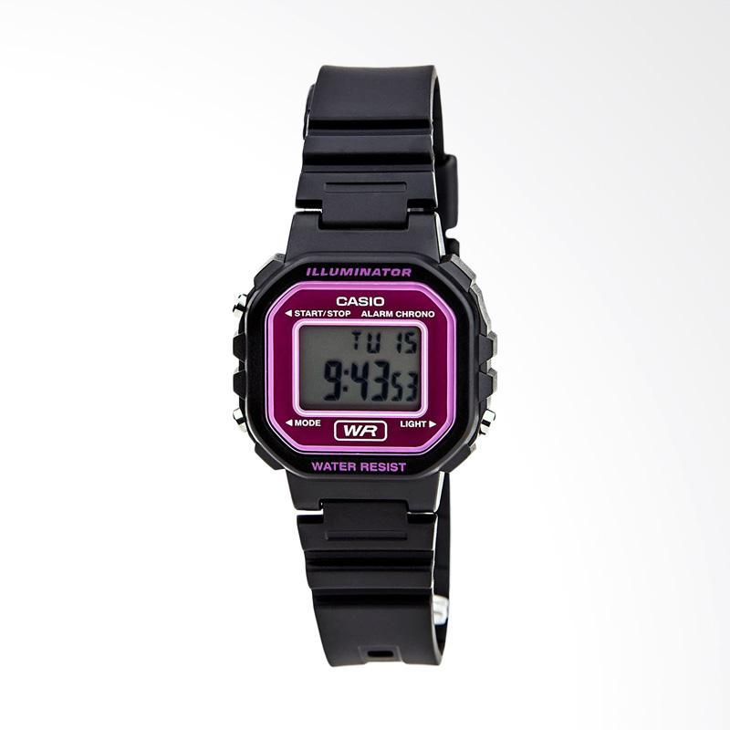 CASIO LA20WH-4ACF Classic Digital Resin Jam Tangan Wanita - Black and Pink