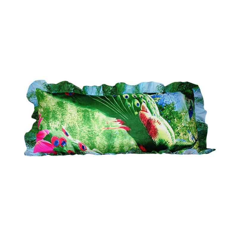 Monalisa Motif Merak Sarung Bantal Cinta [45 x 95 cm]