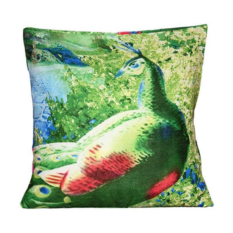 Monalisa Motif Merak Sarung Bantal Sofa [30 cm]