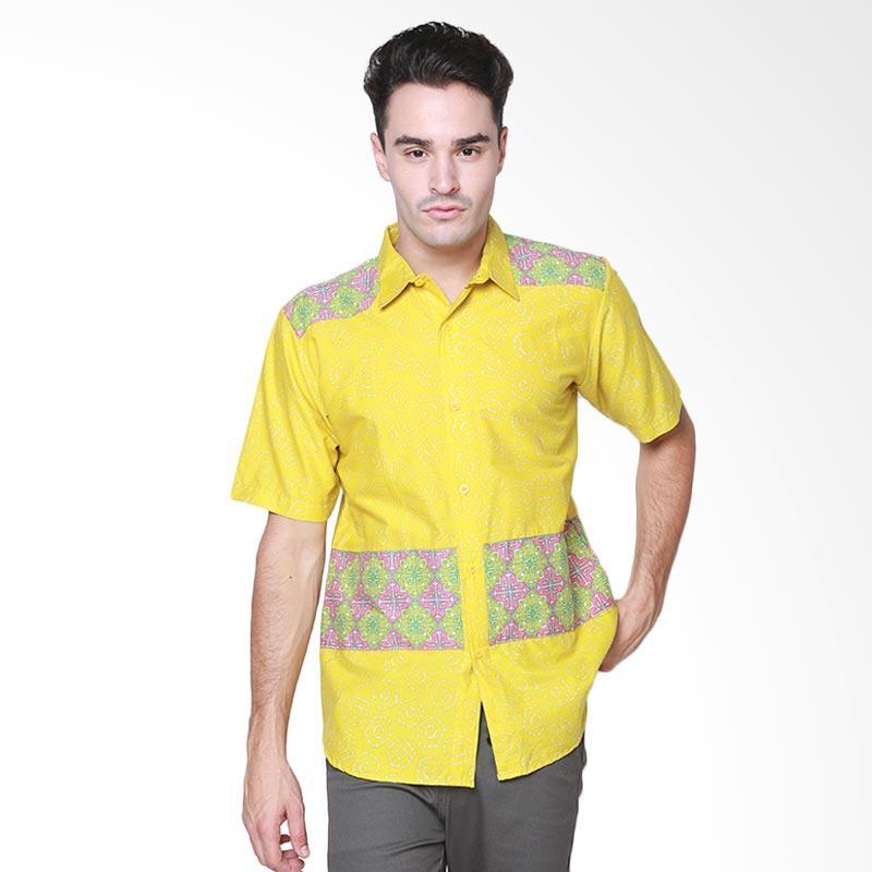 Days by Danarhadi Men Jumput Top Hem Batik Pria - Yellow