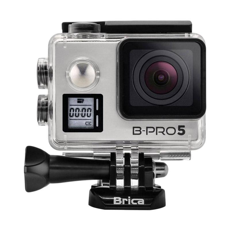 BRICA B-PRO 5 Alpha Edition Mark IIs (AE2s) Action Cam - Silver + Tongsis Attanta 08-A