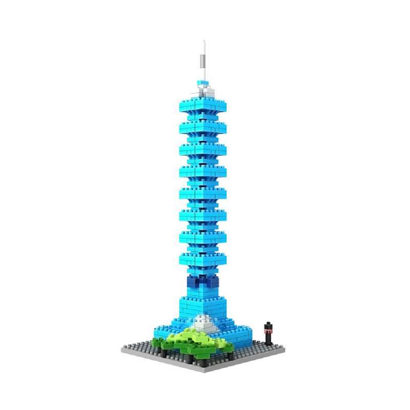 Loz World Famous Architecture Series 9365 Taipei Mainan Blocks