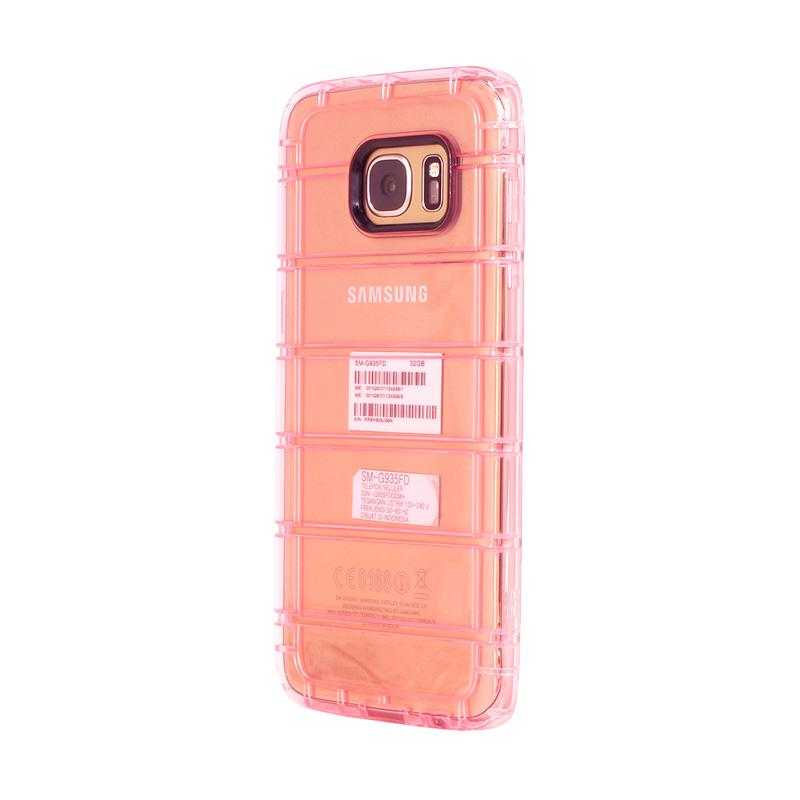 Fashion Case Anti Crack Fall Casing for Samsung S7 Edge - Rose Pink