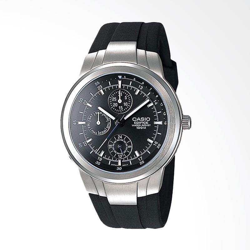 CASIO Men's Multifunction Analog Watch Jam Tangan Pria - Silver Black EF305-1AV