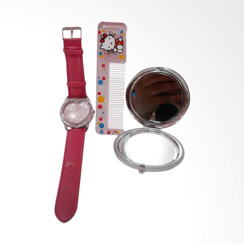 Hello Kitty HK-002 Paket Dandan Jam Tangan Wanita - Multicolor