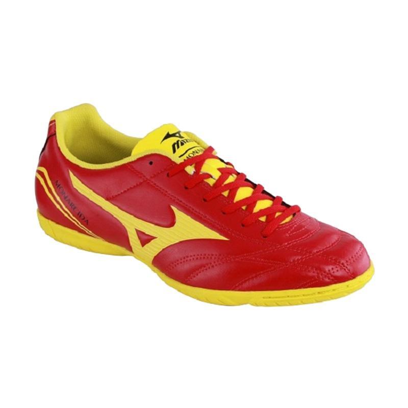 Mizuno Monarcida FS IN Sepatu Futsal Pria - Red Yellow [P1GF162345]