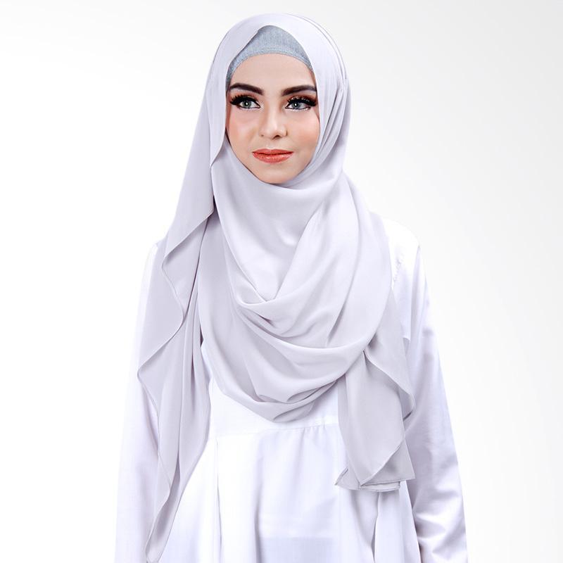 Cantik Kerudung Khloe Slip in Jilbab Instant - Light Grey No.1