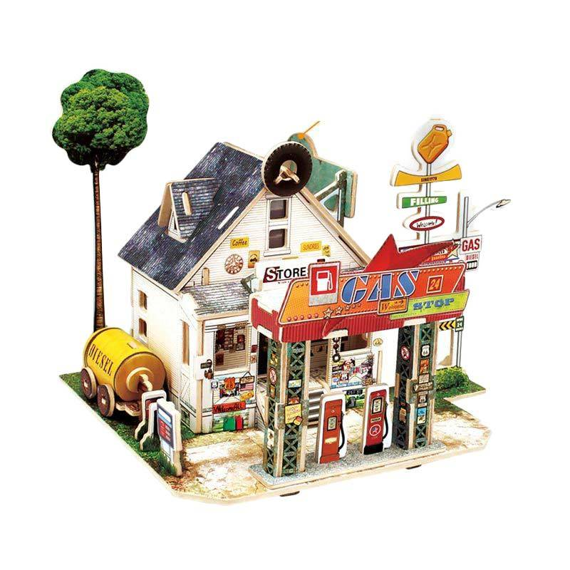 Robo F137 American Filling Station Mainan Puzzle