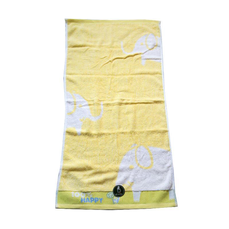 Dixon Happy Elephant 7066 Handuk Sport - Yellow [35 x 80 cm]