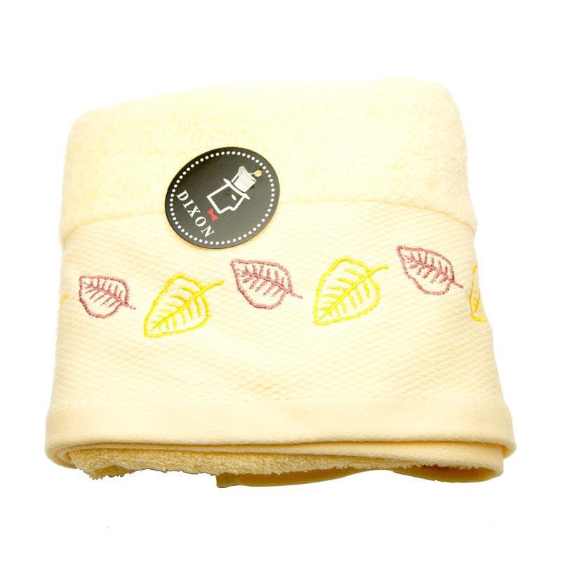 Dixon Leaves Embroidery 7087 Handuk Sport - Yellow [35 x 80 cm]