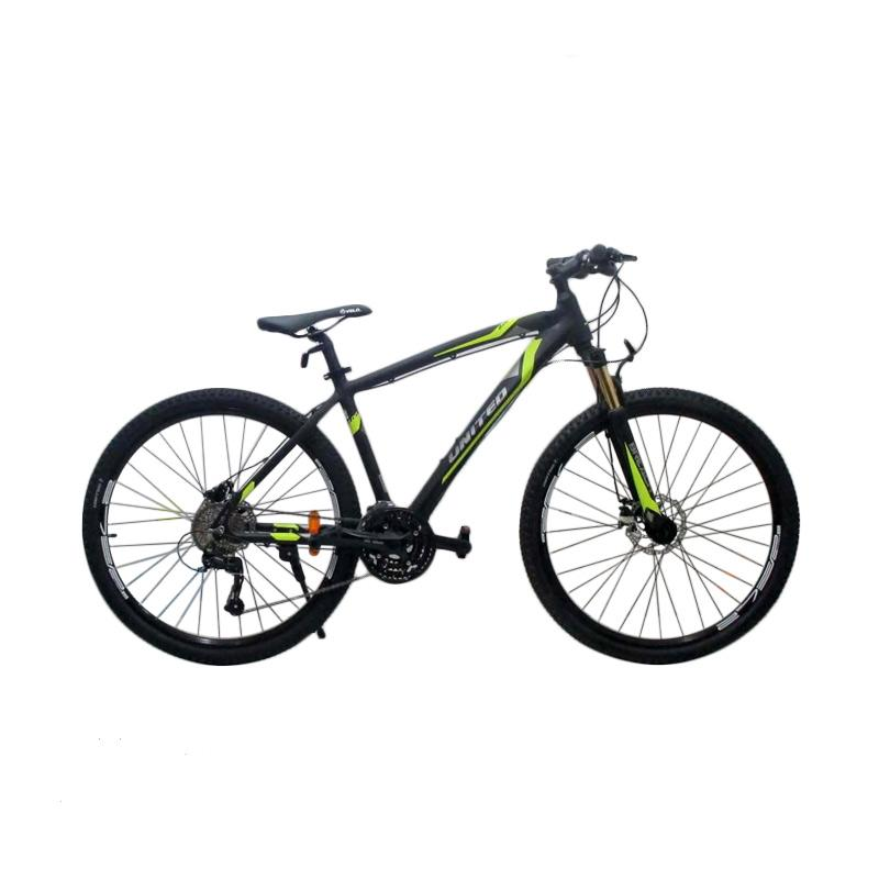United Detroit Alloy Sepeda MTB - Black [ 27 Inch]