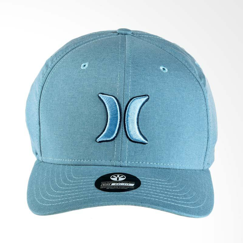 Hurley Dr-Fit Heather Hat Topi Pria - Cerulean [MHA0007200_4CQ]