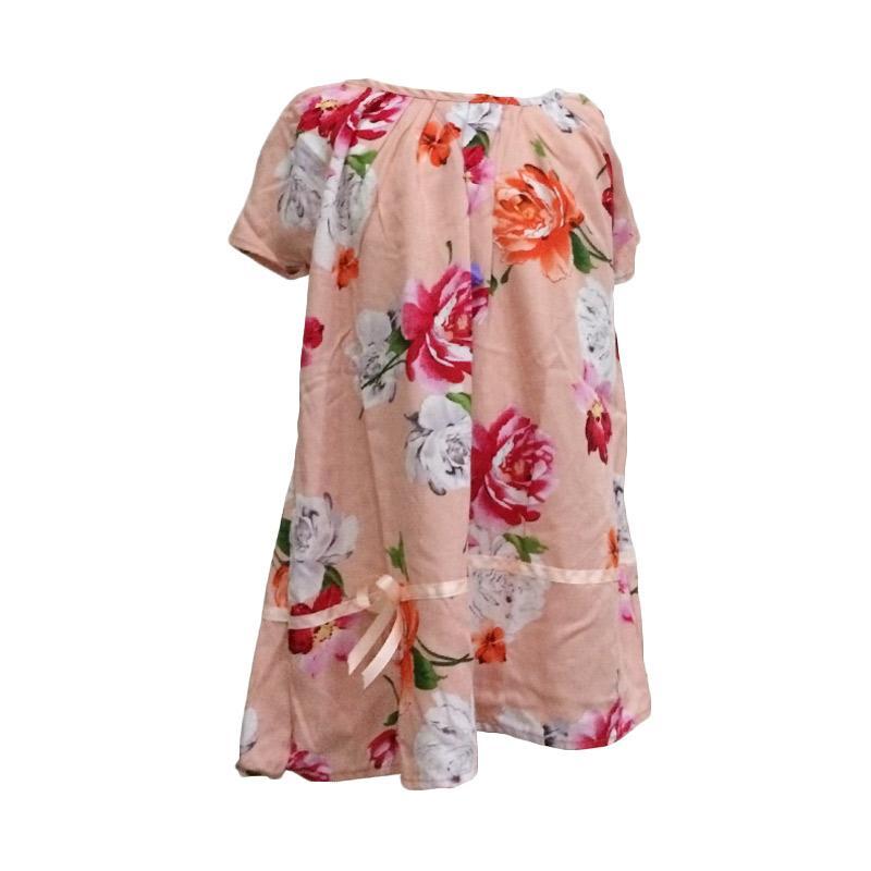 Kirana Kids Wear Lula Dress Anak - Peach Rose