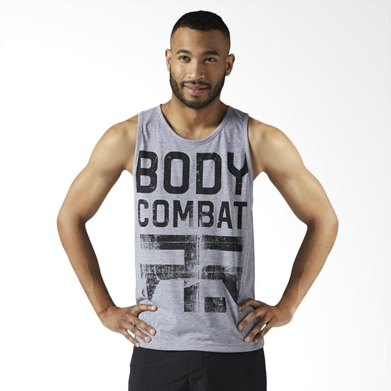 Reebok LM Bodycombat Tank Magrey Kaos Olahraga Pria [CE6772]