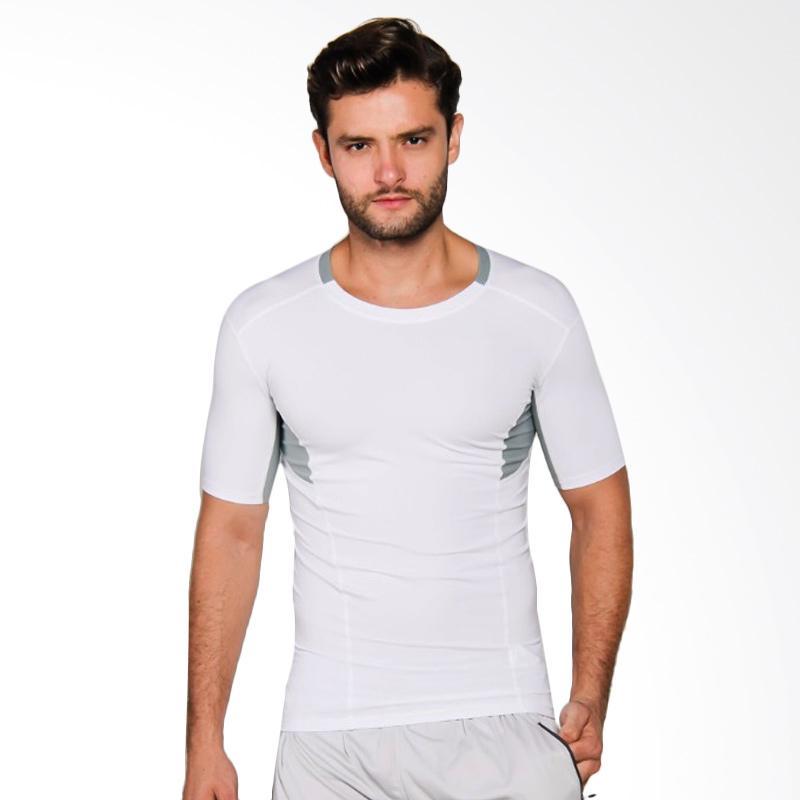 ZcoLand Fast Dry Sport Kaos Olahraga Pria - White [Z1K002]