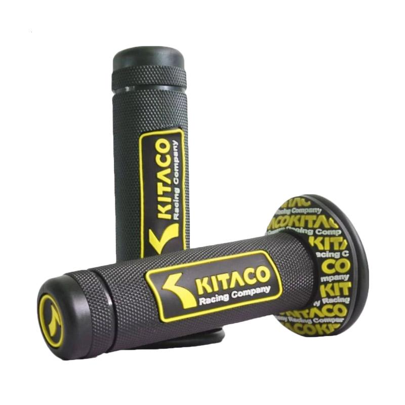 Raja Motor Model Kitaco Timbul Handgrip - Hitam Kuning [HAF9058-Kitaco-HitamKuning]