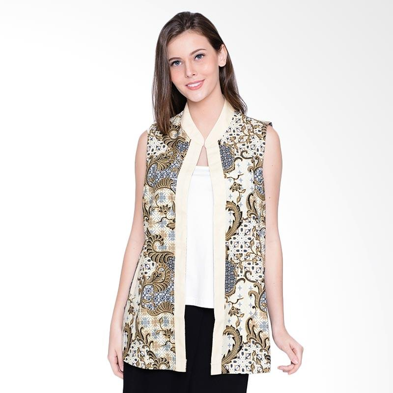A&D Fashion MS 948A Ladies Batik Cardigan - Cream