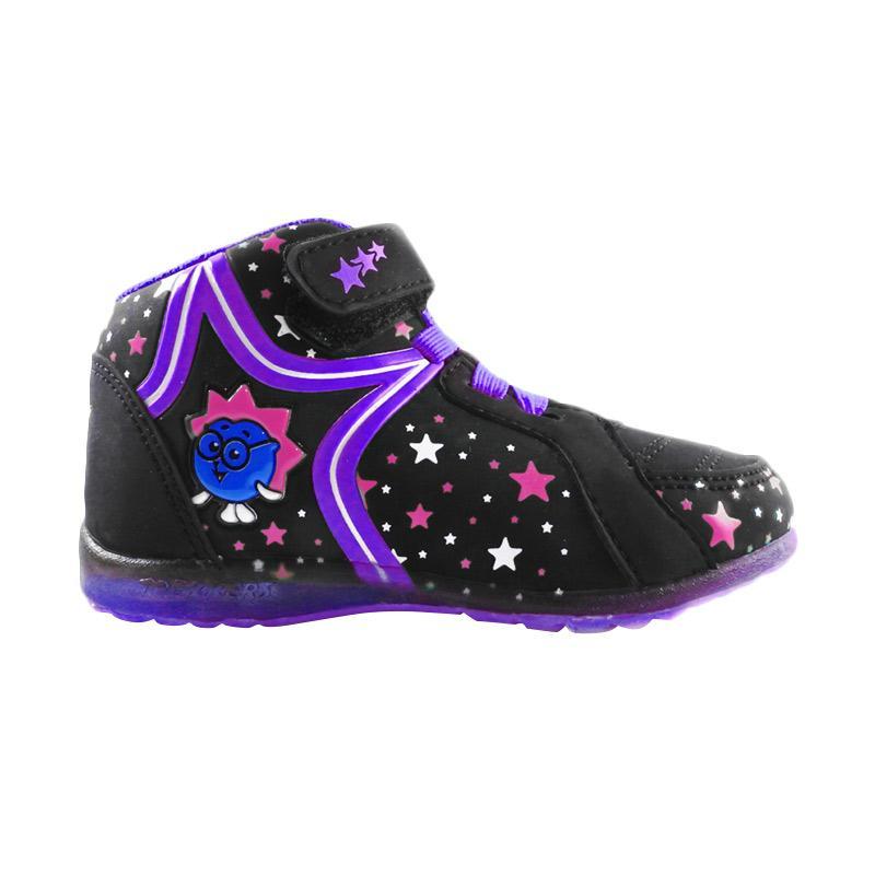 Trekkers JL Twinkle Sepatu Lampu Anak - Hitam Ungu Tua