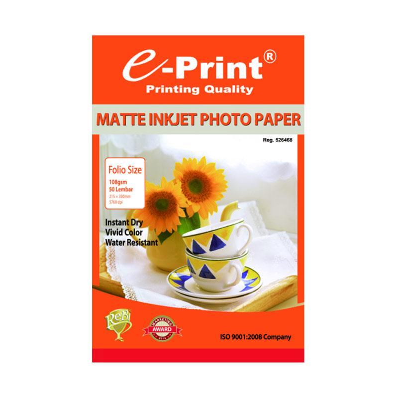 E-Print Inkjet Photo Paper [Folio F4/ 108 gsm/ 50 Sheets]