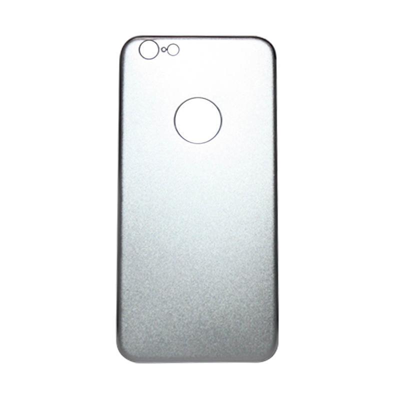 QCF Tempered Glass Aluminium Alloy Back Protector (Belakang Saja) for iPhone 6 / Iphone6 / Iphone 6G / 6S 4.7 Inch Pelindung Belakang - Silver