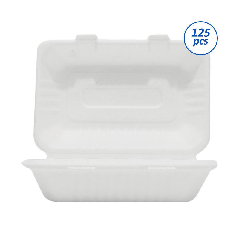 Avani Bagasse Food Box Perangkat Saji [1000 mL/125 pcs]