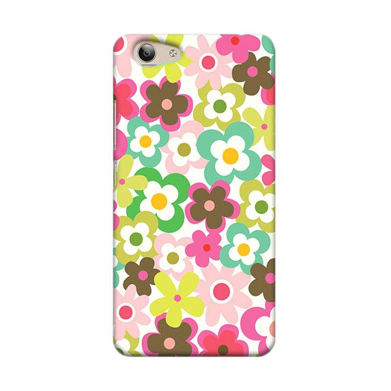 Premiumcaseid Cute Colorful Flower Hardcase Casing for Vivo Y53