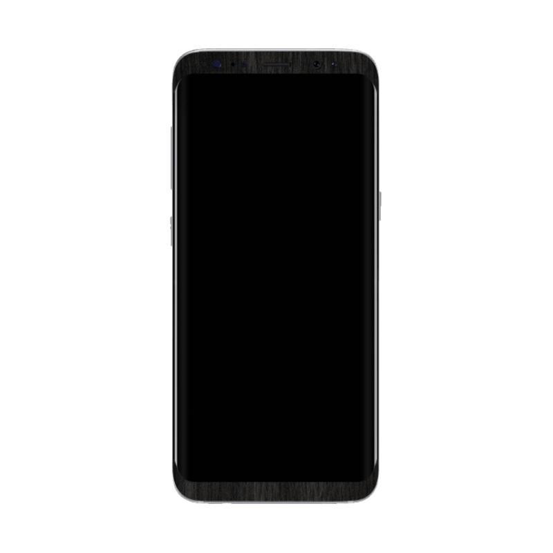 harga Exacoat Garskin Wood Ebony Skin Protector for Samsung Galaxy S8 - Black [5.8 Inch] Blibli.com