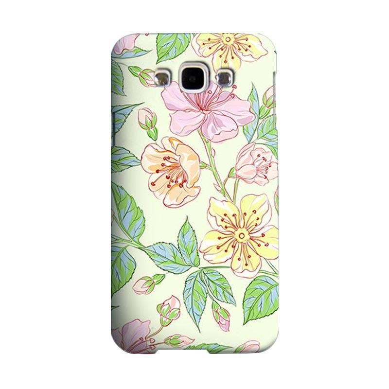 Premiumcaseid Beautiful Flower Wallpaper Cover Hardcase Casing for Samsung Galaxy E5