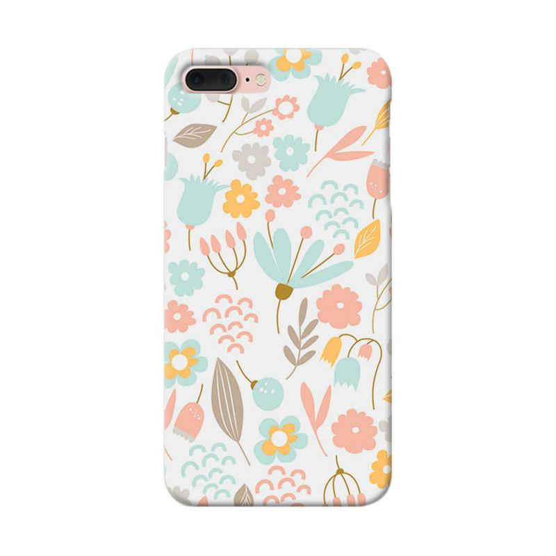 Premiumcaseid Cute Pastel Shabby Chic Floral Cover Hardcase Casing for iPhone 7 Plus
