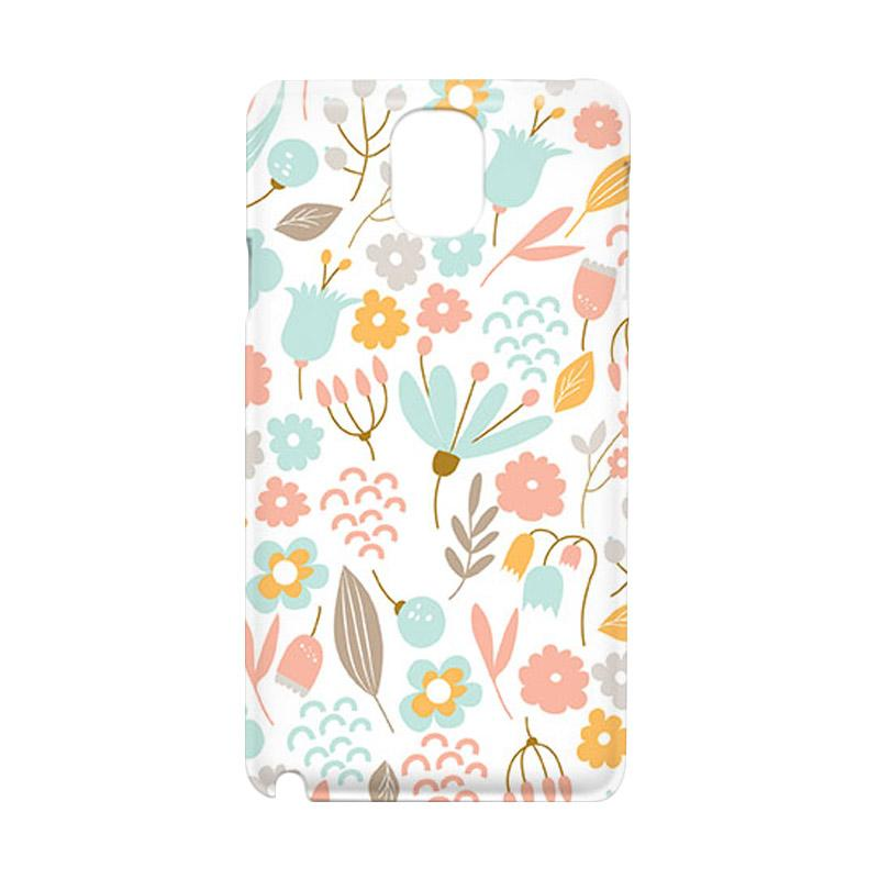 Premiumcaseid Cute Pastel Shabby Chic Floral Hardcase Casing for Samsung Galaxy Note 3