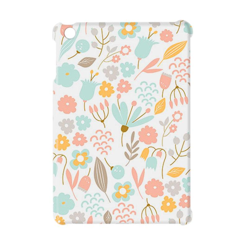 Premiumcaseid Cute Pastel Shabby Chic Floral Hardcase Casing for iPad Mini