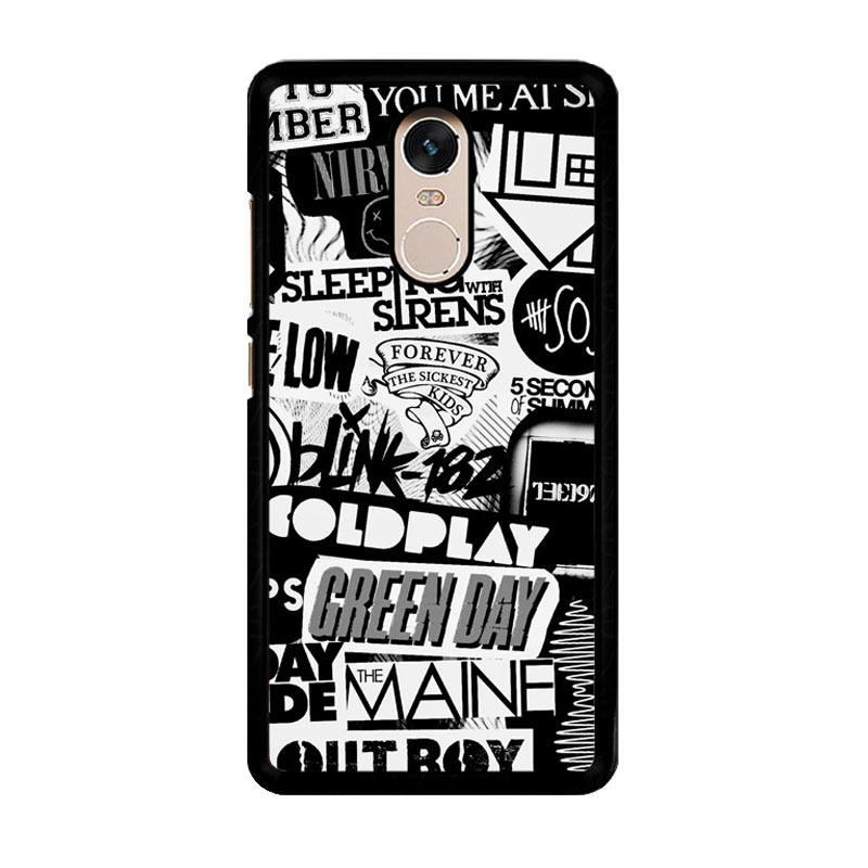 Flazzstore The Xx Coldplay Arctic Monkeys The Neighbourhood Sleeping With Sirens The 1975 Band Z0252 Costum Casing for Xiaomi Redmi Note 4 or Note 4X