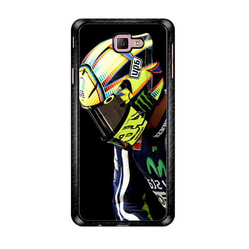 Flazzstore Valentino Rossi Helmet Z4343 Custom Casing for Samsung Galaxy J7 Prime