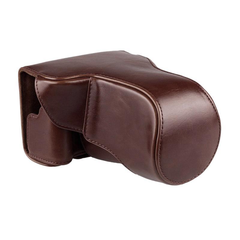 Jual Canon EOS M10   M100 Leather Bag   Case   Tas Kulit Kamera Mirrorless  15-45 MM   18-55 MM - Coklat Tua Online - Harga   Kualitas Terjamin  faeeb02cab